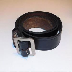 """Other - Heavy Black Leather Holster Belt  51"""" to 56"""""""